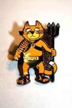 Spartapuss pin badge